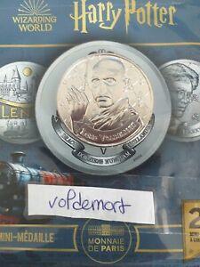Mini Médaille Harry Potter Monnaie de Paris 2021 Lord Voldemort