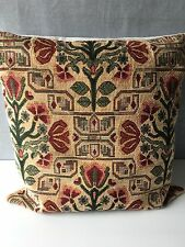 """A Striking  Cushion Cover in Reds and Greens 18"""" x 18"""""""