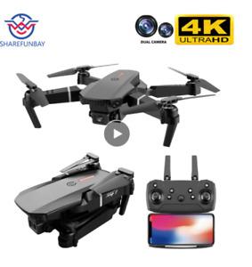 SHAREFUNBAY E88 pro drone 4k HD dual camera visual positioning 1080P WiFi fpv dr