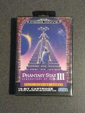 PHANTASY STAR III (3)  - GENERATIONS OF DOOM for SEGA MEGA DRIVE RARE