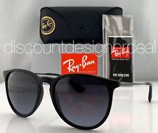 Ray-Ban RB4171 Erika Sunglasses Matte Black Grey Gradient Lenses 622/8G 54mm New