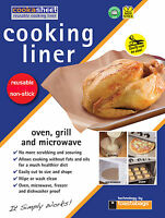 NON STICK REUSEABLE COOKASHEETS 33 X 40 - COOKING LINER FOR FAT FREE COOKING