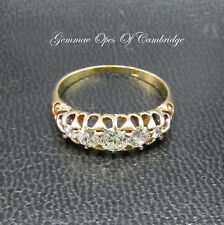Vintage 18ct Gold Graduated Diamond 5 Stone Half Eternity Ring Size L 1/2 3g