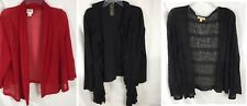 Lot 3 Womens XL Open Front Cardigans Includes Ruby Road Choices Grace Elements