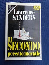 Il secondo peccato mortale- Lawrence Sanders -1° Edizione Sperling & Kupfer 1989
