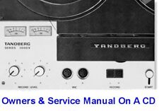 TANDBERG 3000X REEL TO REEL OWNERS & SERVICE MANUALS CD