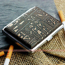 Egyptian Style Metal Cigarette Case Box Hold For 16 Cigarettes 306