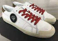 600$ Saint Laurent White Leather Sneakers London size US 10, Made in Spain