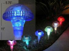 6x Outdoor Garden lawn Decorate Color Changing Colorful Mushroom Solar Lights