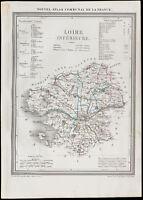 1839 - Antique Map of the Lower-Loire (Loire-Atlantic) .
