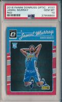 Jamal Murray 2016-17 Donruss Optic Red /99 #157 Nuggets RC Rookie PSA 10