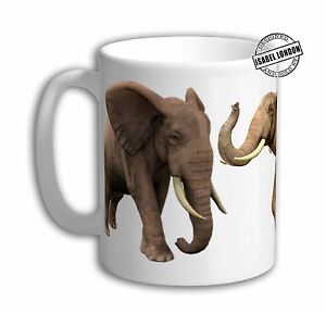 Personalised ELEPHANT Mug Cup .Personalise with your name and text FOC -IL466