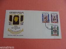Queen Elizabeth II Silver Jubilee FDC 25 Coronation Grenada 1978 #4