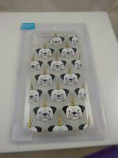 fits iPhone 6 plus, 7 & 8 + plus phone case dog unicorn horn pug ? googly eyes