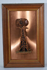 """Vintage 3D Wall Decor 9"""" Copperama By Victor Old Windmill Wall Decor"""