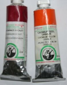 Old Holland Classic Ground Oil Paint SCHEVENINGS VIOLET & CADMIUM YELLOW ORANGE