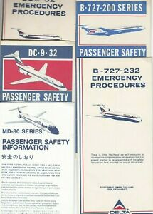 Sale    Delta Airlines Early issued Safety Cards  (5)