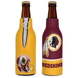 Washington Redskins 12oz Two Sided Bottle Cooler [NEW] Can Holder Foam Koozie