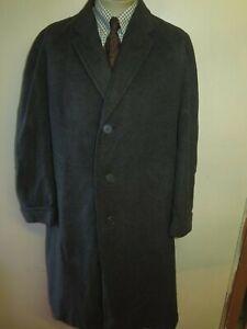 """Genuine Vintage Crombie Wool Winter Coat Mac Size M 40"""" Euro 50 R - Grey"""