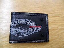 Harley-Davidson Geldbörse Herren Portemonnaie Wallet Leder Karte 97660-16V skull