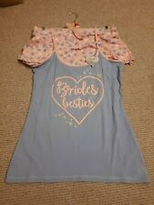 Bridemaids Pyjamas size 14-16 large Primark pink and blue BNWT Wedding Hen
