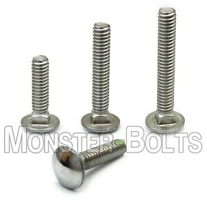Small Parts FSC502CBSS Round Square-Neck Carriage Bolt 2 Long Pack of 5 18-8 Stainless Steel 1//2-13 Thread Size Hex
