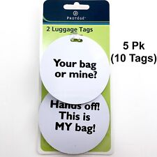 10 Luggage Tags LOT Suitcase ID Golf Bag Camera Accessories Travel Backpack Name