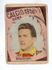 CALCIO FIGURINA  CALCIATORI   VAV  CAMPIONATO 1950   ROMA   MAESTRELLI