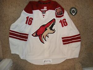 Phoenix Coyotes #16 Rostislav Klesla 13/14 Set 1 Away Game Worn Jersey LOA