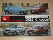 46816) Daihatsu Charade + Cuore Prospekt 1981