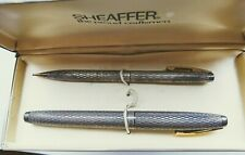 Sheaffer Imperial sterling silver fountain pen and pencil set - MINT - 1970s