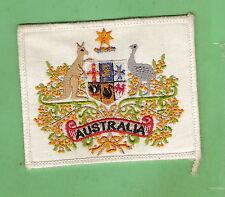 #D519. AUSTRALIAN COAT OF ARMS CLOTH  PATCH