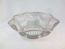 Pilgrim Silverplate Wired Fruit Bread Serving Bowl Basket 9 1/2""