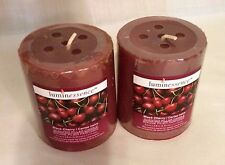 Luminessence Candle~Scented~Black Cherry Set of Two Candles