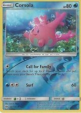 POKEMON SUN & MOON CARD: CORSOLA - 36/149 - REVERSE HOLO
