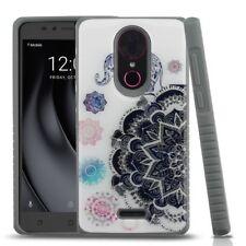 For Coolpad T-Mobile Revvl PLUS - Mandala Elephant Hybrid Rubber Gel Case Cover