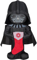 CHRISTMAS 3.5 FT STAR WARS DARTH VADER STOCKING AIRBLOWN INFLATABLE YARD GEMMY