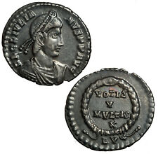 Silver siliqua of Julian II from the East Harptree hoard.  Votive reverse. LVG