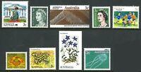 Australia MNH 1966-1989 Assorted Decimal Stamps Set of 9x 3c Denomination issues