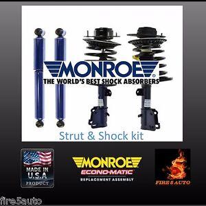 Monroe Front Struts & Rear Shocks  181572L   181572R   32290