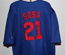 MLB Chicago Cubs Sammy Sosa #21 Russell Athletics Kids Blue 10/12 Sewn Jersey