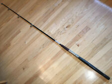 """Vintage Salt Water 1 Piece 6' 7"""" Wood Handled Roller Guided Fishing Rod"""