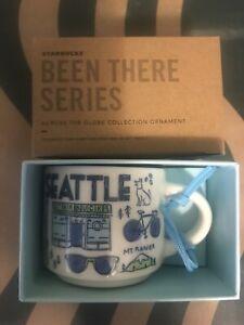 Starbucks 2oz Demi Tasse SEATTLE BEEN THERE mug Ornament Cup Mini Mug