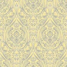 SZ001868 - Kismet Gypsy Damask Grey Yellow Fine Decor Wallpaper