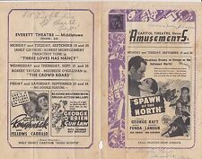 Gene Autry Ginger Rogers George Raft Fonda 1938 ad sheet for Delaware Theatres