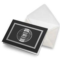 Greetings Card (Black) BW - Venice Italy Italian Flag Travel  #40563
