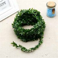 Silk Wreath Green Leaf Iron Wire  Flower Vine  For Party Decoration DIY Wedding