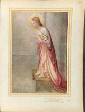 L'Annonciation La vierge par Fra Angelico Peintre fresque  ILLUSTRATION 1947