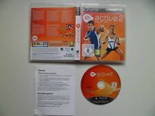 PS3 ea sports active 2 (Sony PlayStation 3, 2010) version européenne aucune uk manuel