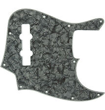 *NEW PICKGUARD for USA Fender Standard Jazz Bass 10 Hole Black Pearloid